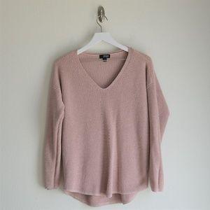 a.n.a. Pink Metallic Knit Sweater